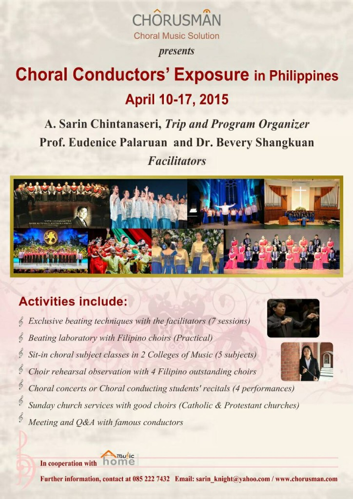 Choral Conductors' Exposure in Philippines during April 10-17, 2015.